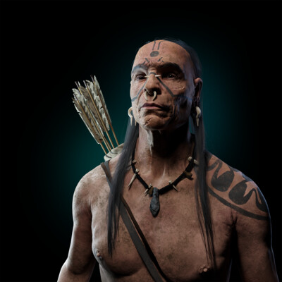 Digital 3D, human, ZBrush - 3D Скульптинг, Maya,, Arnold, 3d, 3d character, rendering