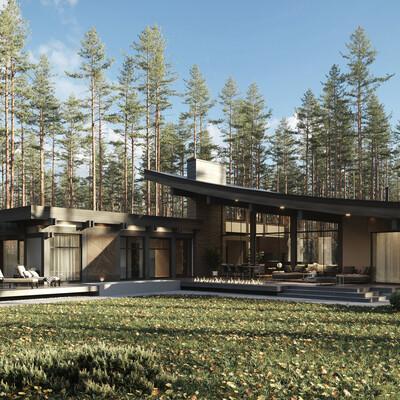 exterior., Exterior architecture, magic forest, Corona Renderer