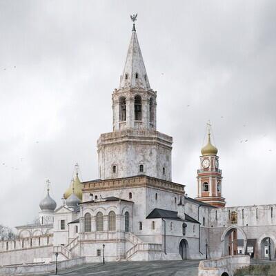 3D архитектура, Визуализация, замок, башня, архитектура, История