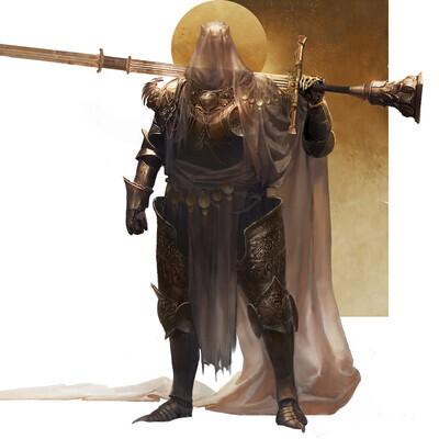 Dark Souls, Character, Concept Art, illustration, knight, paladin