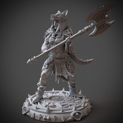 Digital 3D, 3D Printing, Fantasy, Board & Card Game Art, Character Modeling, dandd, dungeonsanddragons, miniature, miniatures