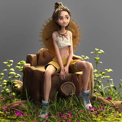 Digital 3D, stylized character, 3d modeling