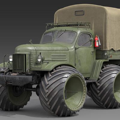 3d model ZIL-157R, 3d model-Wheel Arched, 3d model-Arched tire