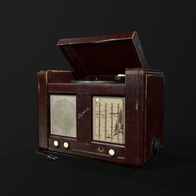Props, old radio, gamedev, vitage radio, soviet radio