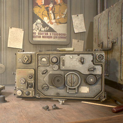 gamedev, gamedev art, 3d, Radio, vitage radio, old radio, RADIONICS, Radiograms, soviet radio, Portable VHF radio