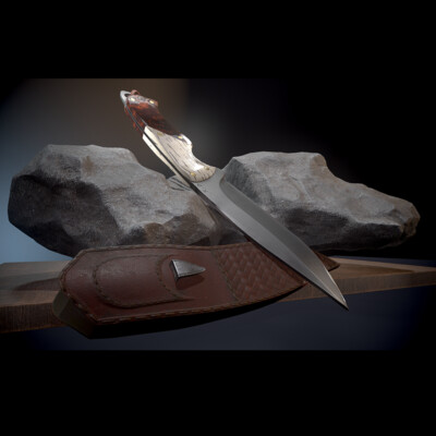 Digital 3D, Real-time, Weapons, hard surface, knife, game ready, blade, PBR, prop, Games and Real-Time 3D Environment Art