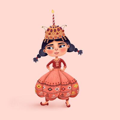 туркмены, персонаж, выпечка, концепт, 2d, Туркменистан, Ашхабад, орнамент, вышивка, азия