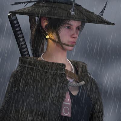 samuri, inspector, Japan, japanese swords, Japan girl, japanice, girl, 3dgirl, 3d girl
