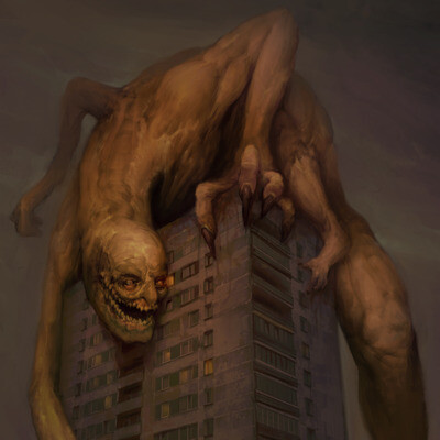 creature, horrorart, horror creep