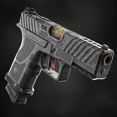3d, art, game, pistols, OZ9C, ZEV, glock, weapon, gun, PBR