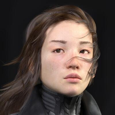 girlmechanic, girl, girlportrait, scifi, realism, photorealism, realistic, девушка портрет, реализм, Портрет