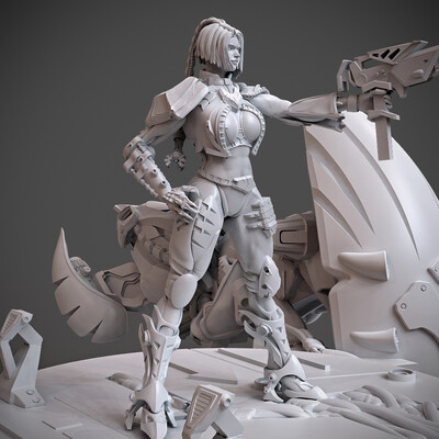 Digital 3D, 3D Printing, Science Fiction, Mecha, Character Modeling, cyberpunk, miniature, Cybersplit, arjkalobas