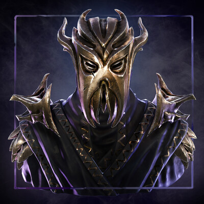 Digital 3D, Fan art, character design, Character Modeling, Skyrim, Miraak, fanart, Dragonborn, priest, The Elder Scrolls
