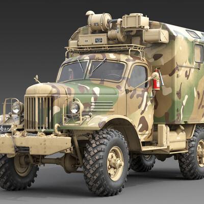 3д модель ЗИЛ-157_КУНГ, 3д модель ЗИЛ-157_КУНГ_Камуфляж