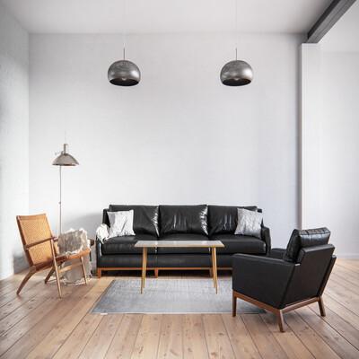 дизайн интерьера, 3д визуализация, архитектурная визуализация, чернобелое, скандинавский стиль, скандинавский минимализм
