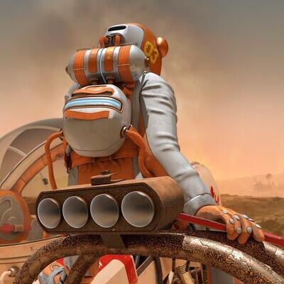 марсоход, марс, Космос, марсианка, планета, фанстатика
