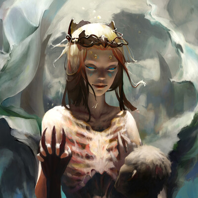 девушка, нечисть, Мертвый мир