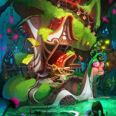черепаха, Сказка, детская иллюстрация, иллюстрация, иллюстрация к сказке, волшебный, 2д арт, 2д, 2д иллюстрация