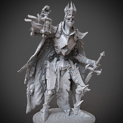 Digital 3D, 3D Printing, Fantasy, Horror, Character Modeling, undead, miniature, arjkalobas, miniatures