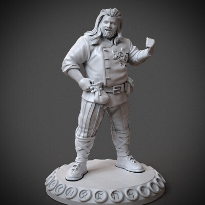 Digital 3D, 3D Printing, fantasy, Book illustration, Character Modeling, miniature, arjkalobas, sculpt, 3dprint