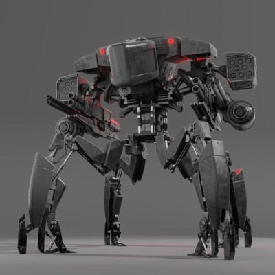 меха, механика, механизмы, Танки, танк паук, спайдертанк, оружие, энергетическое оружие, лазерное оружие, терминатор