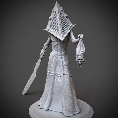 modelfor3dprint, miniatures, 3dpress, figurines, monster, SilentHill, pyramidhead