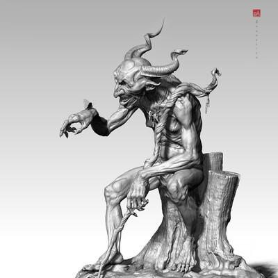 гоблин, леший, дизайн персонажа, Концепт Арт, концепт арт персонажей