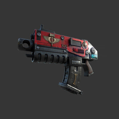 Warhammer 40000, heavy bolter, 3ds Max, Substance PAinter