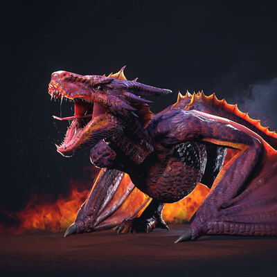 3d, 3ds Max, Maya, the Dragon, gamedev, game art, game character, animated, Creatures, Monsters
