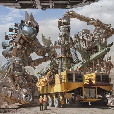 cyberpank, Robotic, Battle mechs, MechanicalDesign, Rocketlauncher, sci-fi, sci-fi фантастика космос планеты земля луна окружение мэтт-пэинтинг фоны splash-screen заставка