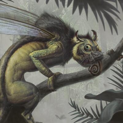химера, Животные, скетч концептарт Монстры Животные, монстр, Character, iPad, procrearte