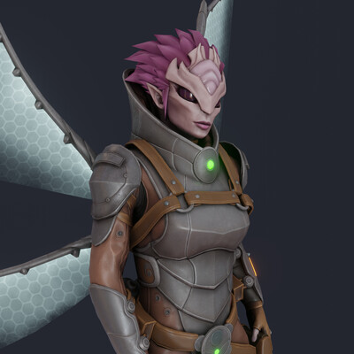 Digital 3D, Real-time, Game Art, stylized, Character Modeling