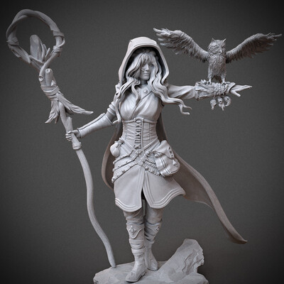 miniature, arjkalobas, sculpt, 3dprint, modelfor3dprint, miniatures, 3dpress, girl, atlas3dss