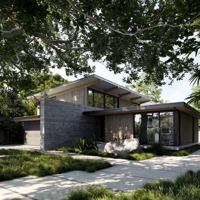 USA, 3d, visualization, visualisation, render, architecture, Exterior, California, PaloAlto