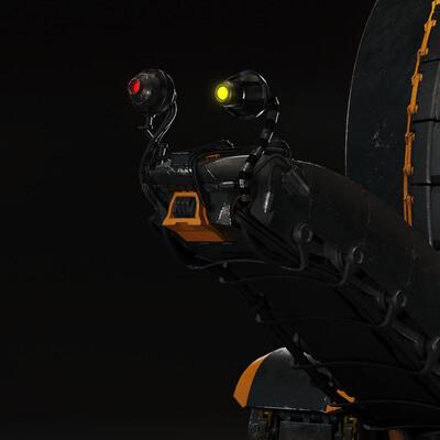 3d, model, render, Mecha, robo, robot, snail, track