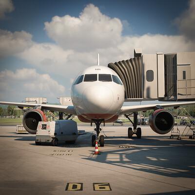 airship, airliner, airbus, blender, unigine, Transport & Vehicles