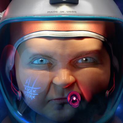 ребенок, мальчик, космонавт, Шлем космонавта