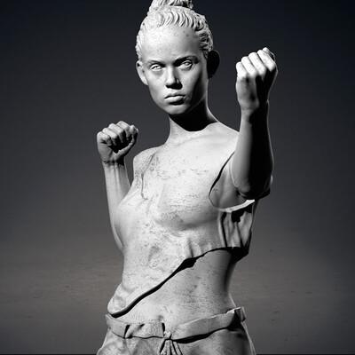 digital sculpture, 3d_sculpture, Sculpture Zbrush, woman, printing
