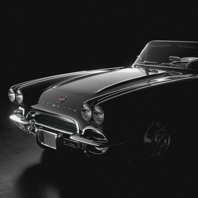 Chevrolet Corvette, c1, 60s, 1962, Transport & Vehicles