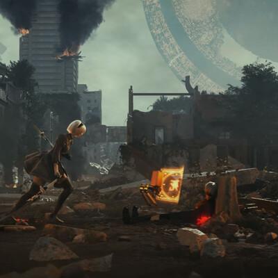 3д окружение, пост апокалипсис, игровой персонаж
