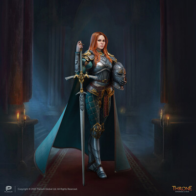 Plarium, Throne: Kingdom at War, рыцари, броня, меч, воин, средневековье, Фэнтези, доспехи