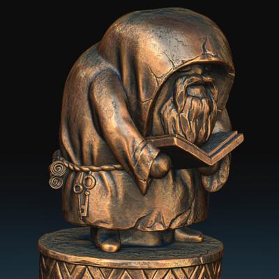 фигурка, викинги, конунг, монах, воин, концепт, бронза