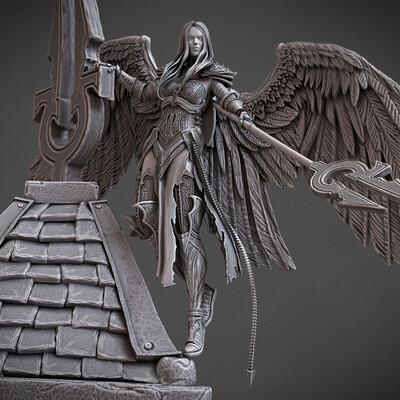 sculpt, 3dprint, modelfor3dprint, miniatures, Avacyn, mtg, angel, Innistrad, angels