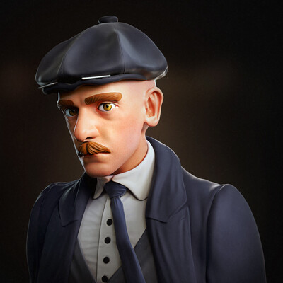 zbrush, 3d character, Character Desing, Stylized, real time, peaky blinders, marmoset toolbag, Adobe Photoshop, Clothes, 3d digital