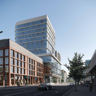 visualization, exteriorrendering, exterior., Corona Renderer, glass facade, 3d, architecture, 3Dsmax, Office bilding rendering