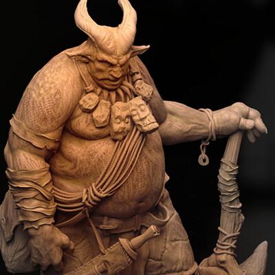 digital art, 3d, 3D Printing, miniatures, Fantasy, Creatures, design, sculpture, Characters, high-poly
