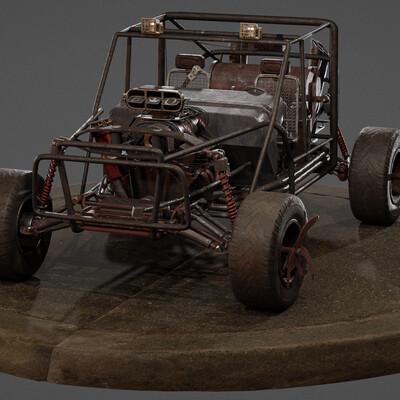 Vehicles, steampunk, buggy, post-apocalypse, hardsurfacs