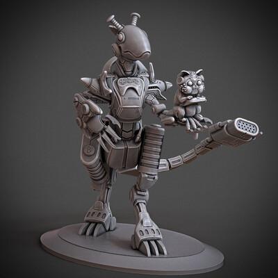 mecha, Character Modeling, miniature, arjkalobas, sculpt, 3dprint, modelfor3dprint, miniatures, atlas3dss