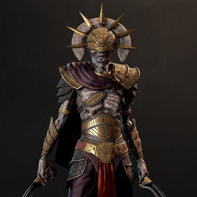 realtime, Character Modeling, Characters, Creatures, undead, Fantasy, ancients, skeleton, game-ready model